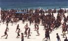 12.10.1993 - Chiquito Chaves - RI - Arrastão no Rio de Janeiro Foto: Chiquito Chaves / Agência O Globo