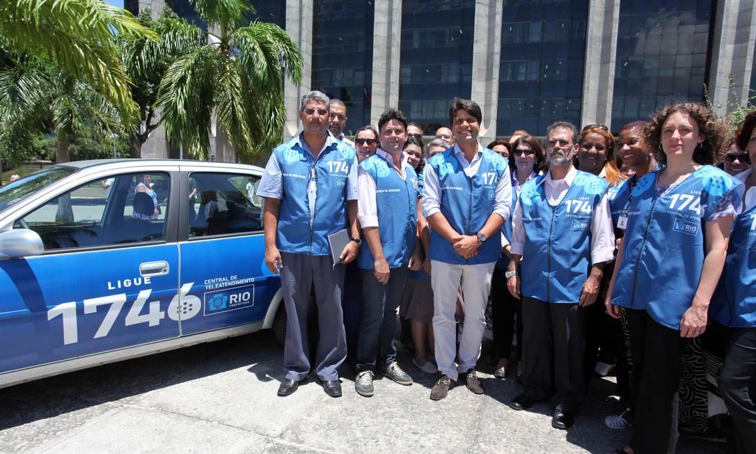 Ouvidores da Central 1746, projeto destacado pelo prêmio World Smart City Foto: Beth Santos / Agência O Globo