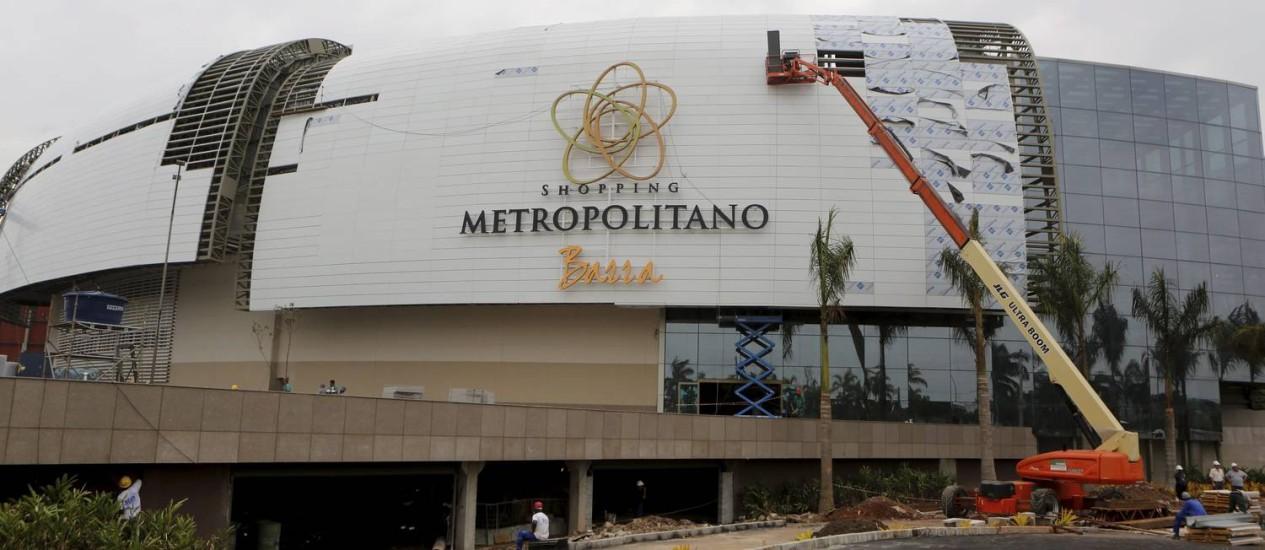 Shopping Metropolitano, ainda em construção, é o primeiro grande empreendimento do Centro Metropolitano da GuanabaraFoto: Felipe Hanower