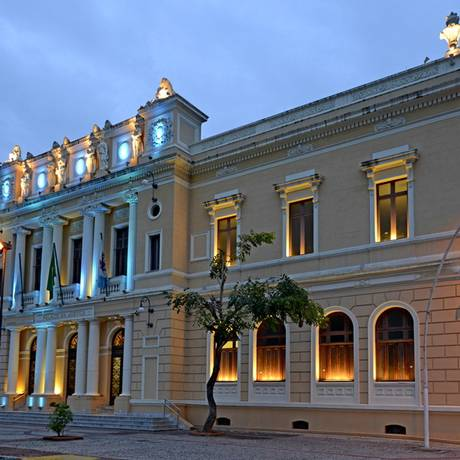 Palácio da Polícia. Tijolos aparentes na parede Foto: Terceiro / Agência O Globo