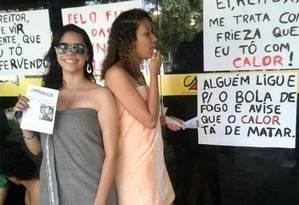Protesto contra calor na UFPE Foto: Divulgação