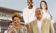 Dilma Rousseff e o Ministro da Saúde Alexadre Padilha no Ceará Foto: Divulgação/Roberto Stuckert Filho/PR