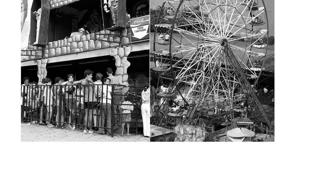 A casa mal assombrada e a roda-gigante do Tivoli Park Foto: Arquivo