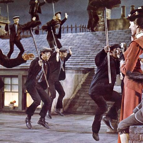 Cena do filme 'Mary Poppins', de 1964, coreografia de Marc Breau