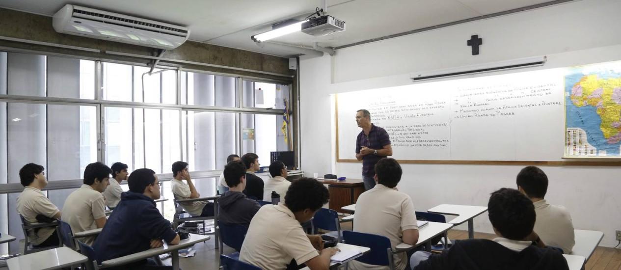 Sala de aula do Colégio São Bento Foto: Ana Branco / Agência O Globo/Arquivo