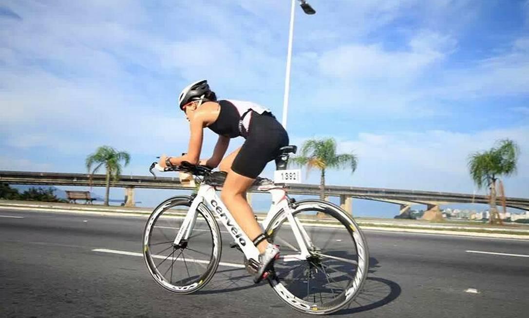 Débora Boaretto foi assaltada quando pedalava no Aterro Foto: Arquivo Pessoal