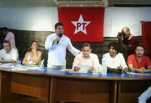 Novo presidente estadual do PT, Washington Quaquá Foto: André Machado / O Globo