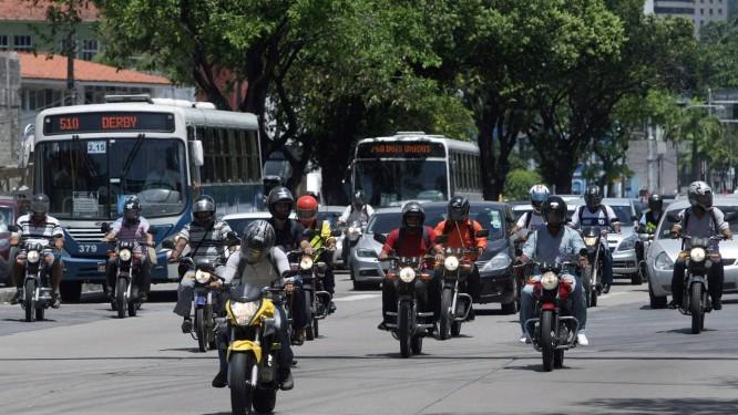 Transporte individual: elevação no número de motos, principalmente nas regiões Norte e Nordeste Foto: Hans von Manteuffel / O Globo