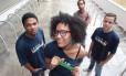 Thaís Moreira, Caio Matos, Lucas Rodrigues e Marcos Fernando, do coletivo Jovem Expressão, participaram da pesquisa