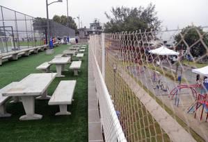 Área do Parque Machado de Assis oferece quadra de futebol soçaite, playground e espaço para recreação social Foto: Ricardo Cassiano / Divulgação/Prefeitura do Rio