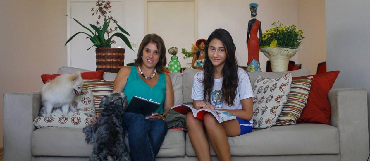 Luciani de Oliveira Freitas é mãe de Luísa, aluna do Santo Agostinho Foto: O Globo / Pedro Kirilos