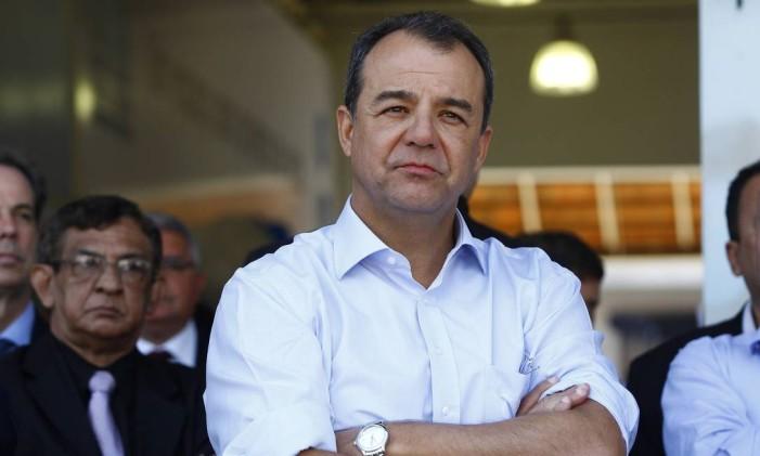O ex-governador do Rio, Sérgio Carbral Foto: Pablo Jacob/ O Globo