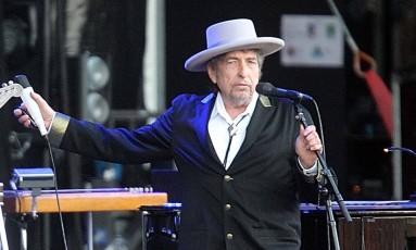 Bob Dylan em um show na França, em 2012 Foto: David Vincent / AP