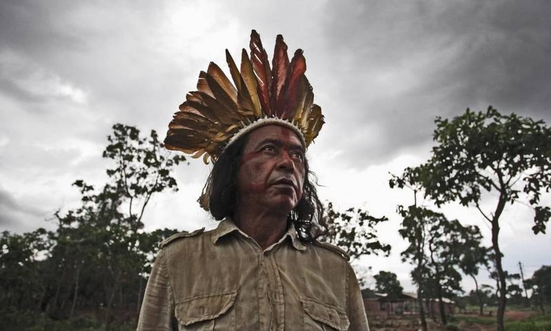 Tiuré Nascimento, primeiro indígena anistiado da ditadura Foto: André Coelho / O Globo / 02-12-2013