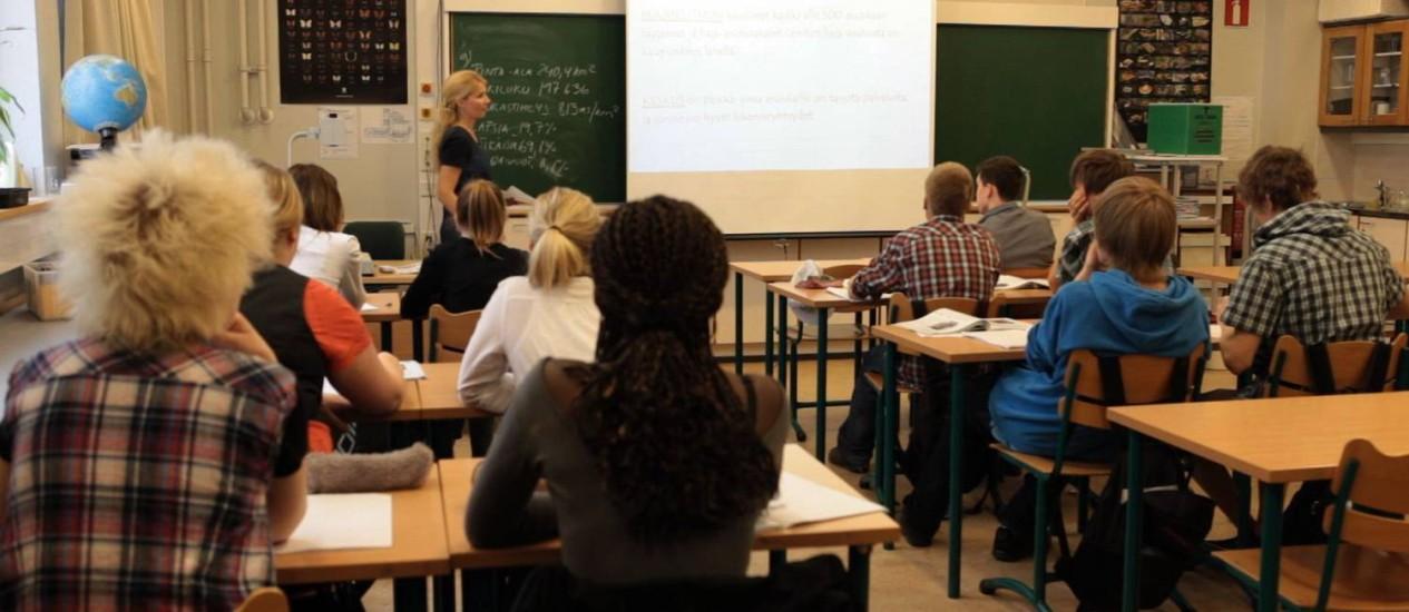 Sala de aula na Finlândia Foto: Arquivo