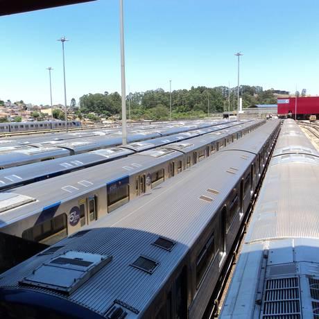 Trens parados para conserto em São Paulo Foto: MP / Divulgação