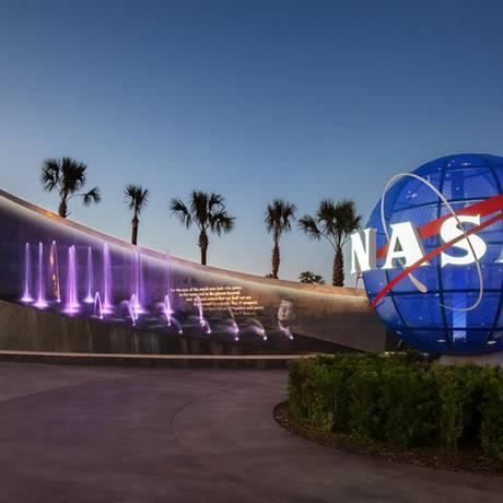 Entrada do Kennedy Space Center, na Flórida Foto: Divulgação