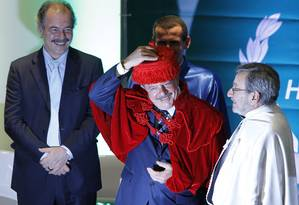 Lula recebe título de Doutor Honoris Causa da Universidade Federal do ABC, em São Bernardo do Campo Foto: Michel Filho / O Globo