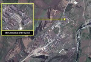 O Campo 16, em imagem de satélite Foto: Anistia Internacional