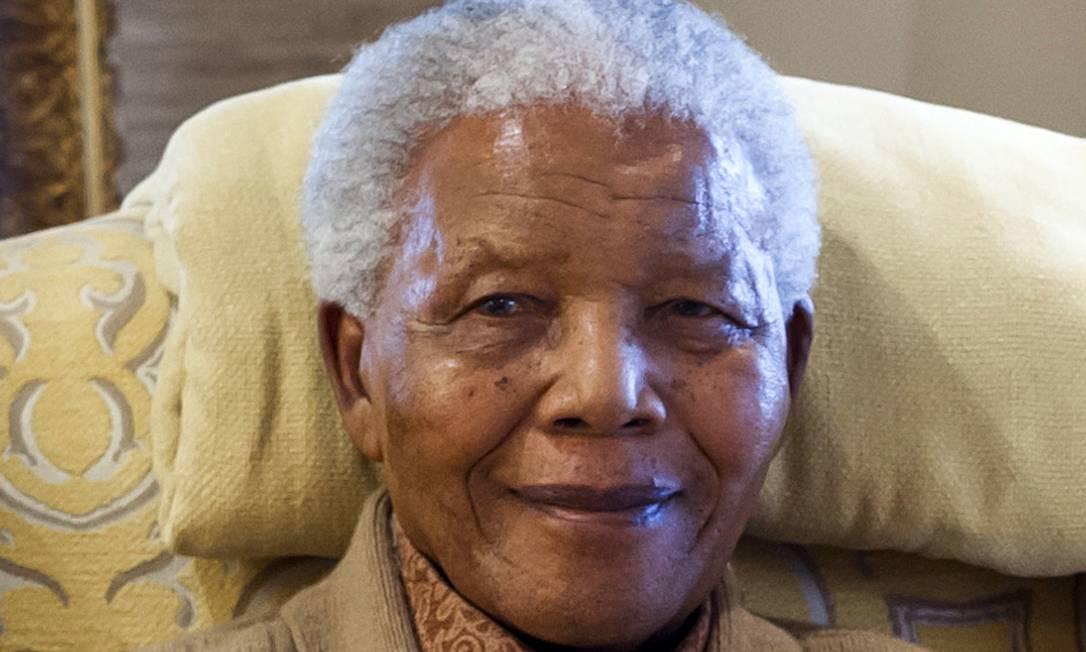 O presidente Nelson Mandela em julho de 2012 Foto: BARBARA KINNEY / AFP