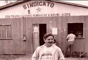 Francisco Alves Mendes Filho, conhecido como Chico Mendes, foi um seringueiro, ativista ambiental e sindicalista que nasceu e morreu em Xapuri, no Acre Foto: Divulgação/03-06-2010