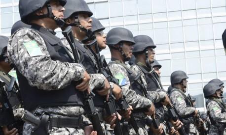 Parte do efetivo Força Nacional de Segurança Foto: Terceiro / Agência Brasil/Antônio Cruz/28-09-2013