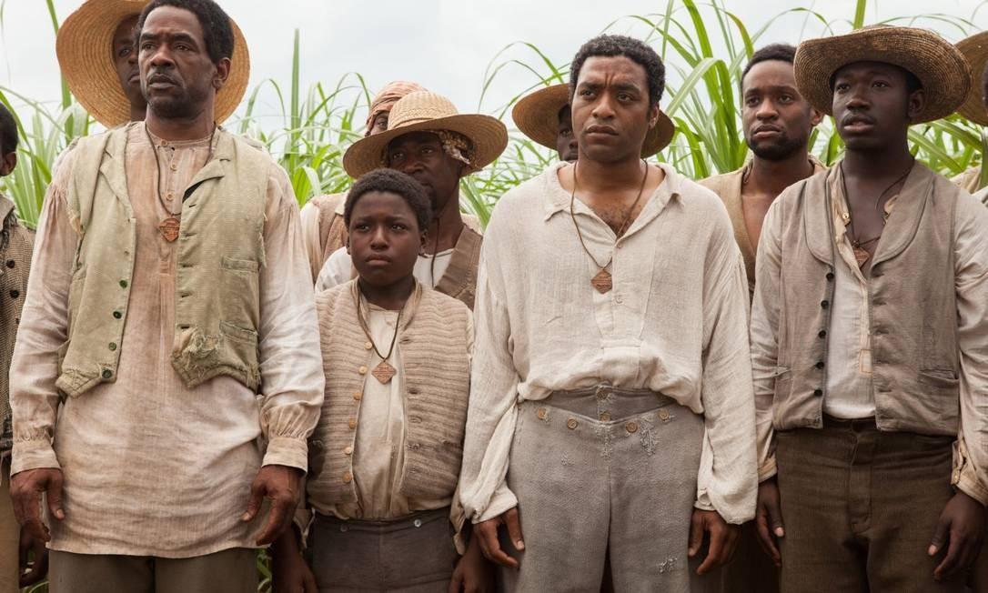 O elenco de '12 years a slave', que tem quatro indicações no SAG Foto: Divulgação