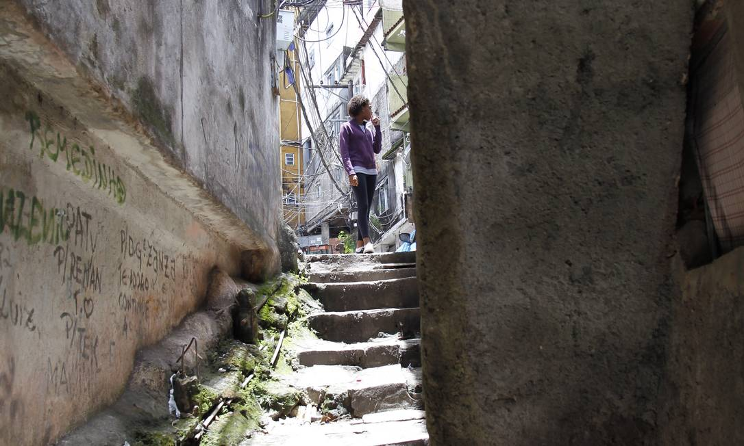Na Rocinha, os becos e vielas estreitas dificultam o policiamento Foto: Márcia Foletto / Márcia Foletto
