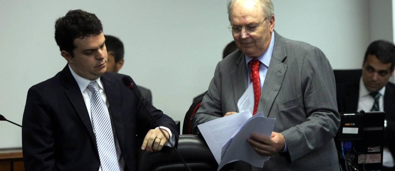 Advogado da Portuguesa, João Zanforlin, durante o julgamento no STJD Foto: Cezar Loureiro / Agência O Globo