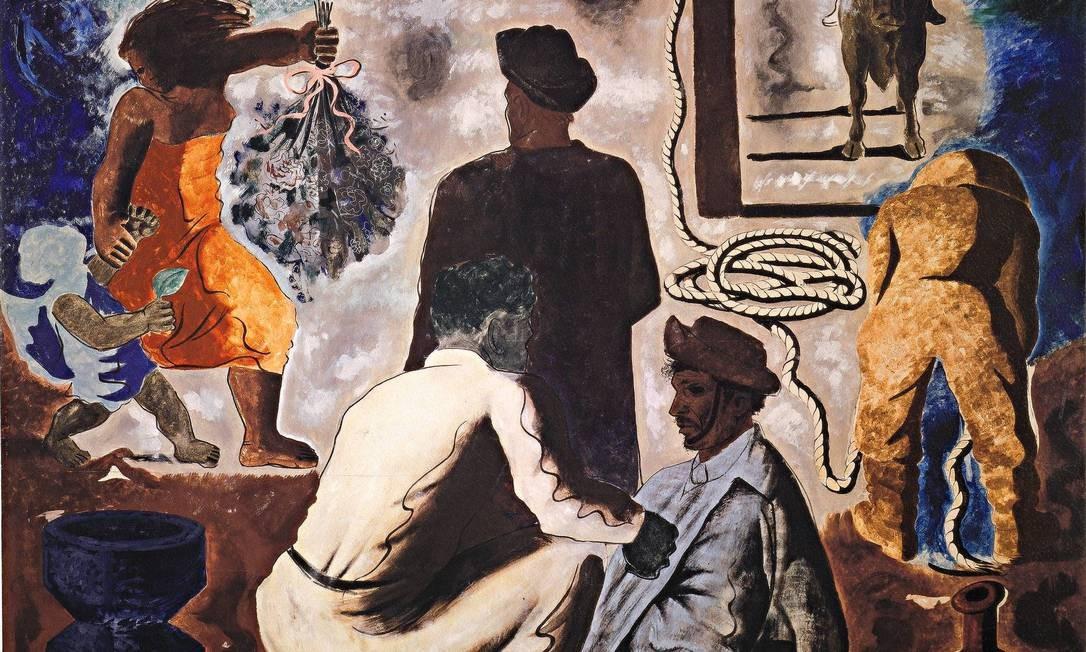 """""""Cena gaúcha"""" (1939), obra que Candido Portinari criou para a Feira Mundial de Nova York, naquele mesmo ano Foto: Divulgação/Projeto Portinari"""