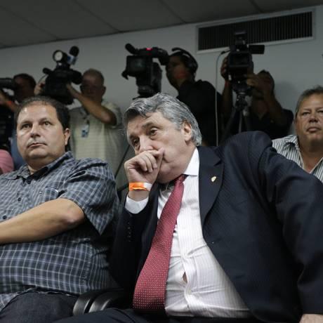 O então presidente da Portuguesa, Manuel da Lupa, no julgamento no STJD Foto: Cezar Loureiro / O Globo