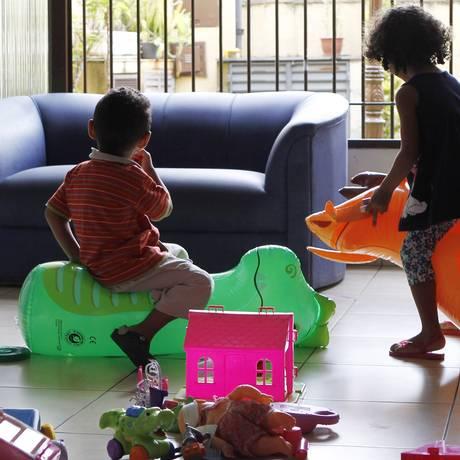 Lar Vinícius. Abrigo em São Paulo tem convênio com escola particular, onde os filhos das presidiárias estudam Foto: Michel Filho