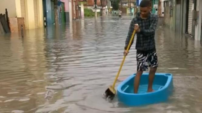 Previsão é de mais chuvas no Espírito Santo durante o Natal Foto: Reprodução / Globonews