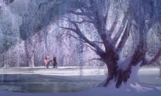 Uma das paisagens de 'Frozen', que estreia no dia 3 de janeiro Foto: Divulgação