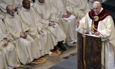 Papa Francisco celebra missa em igreja de Roma / Foto: Alberto Pizzoli / AFP