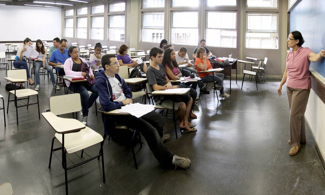 Sala de aula do curso de Matemática, da Uerj Foto: Ivo Gonzalez / O Globo