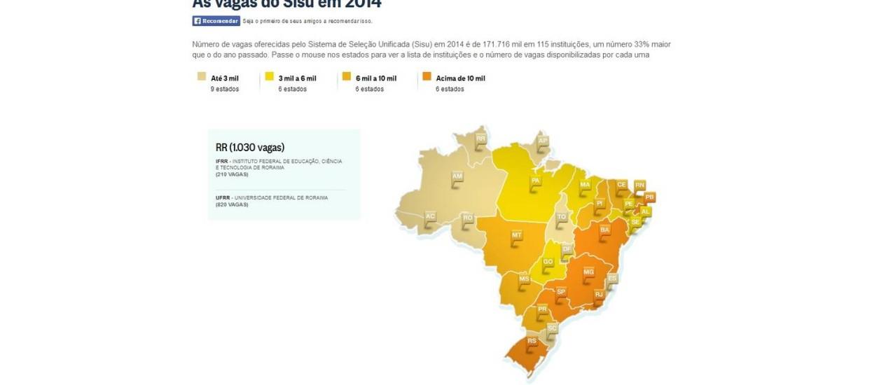 Oportunidades são para 115 instituições em todo o Brasil Foto: O GLOBO