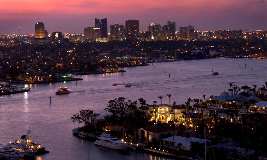Canais que cortam a cidade de Fort Lauderdale Foto: Divulgação