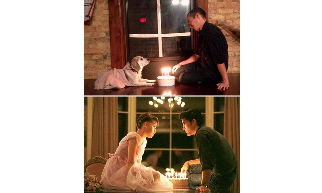Clássico teen dos anos 80, 'Gatinhas e gatões' ('Sixteen candles', em português) ganhou uma versão canina Foto: Reprodução / Reddit.com