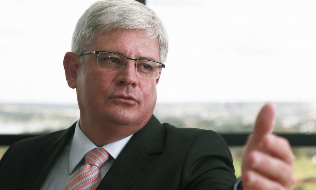 O procurador-geral da República, Rodrigo Janot Foto: Jorge William / Agência O Globo