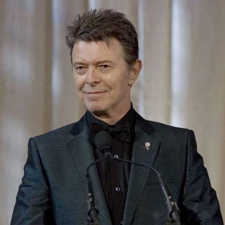David Bowie é um dos destaques entre os indicados do Brit Awards Foto: STEPHEN CHERNIN / AP