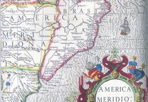Fronteiras da Colônia (em rosa) são determinadas pelo Lago Foto: Divulgação