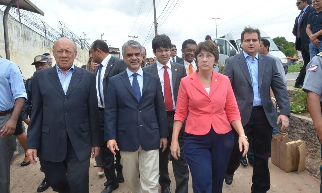 Visita dos representantes da Comissão de Direitos Humanos do Senado ao Complexo Penitenciário de Pedrinhas Foto: Francisco Silva / Jornal Pequeno