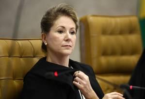 Ellen Gracie, ex-presidente do STF, é cotada para concorrer ao Senado ou ser vice de Aécio Neves Foto: Ailton de Freitas/28-10-2010