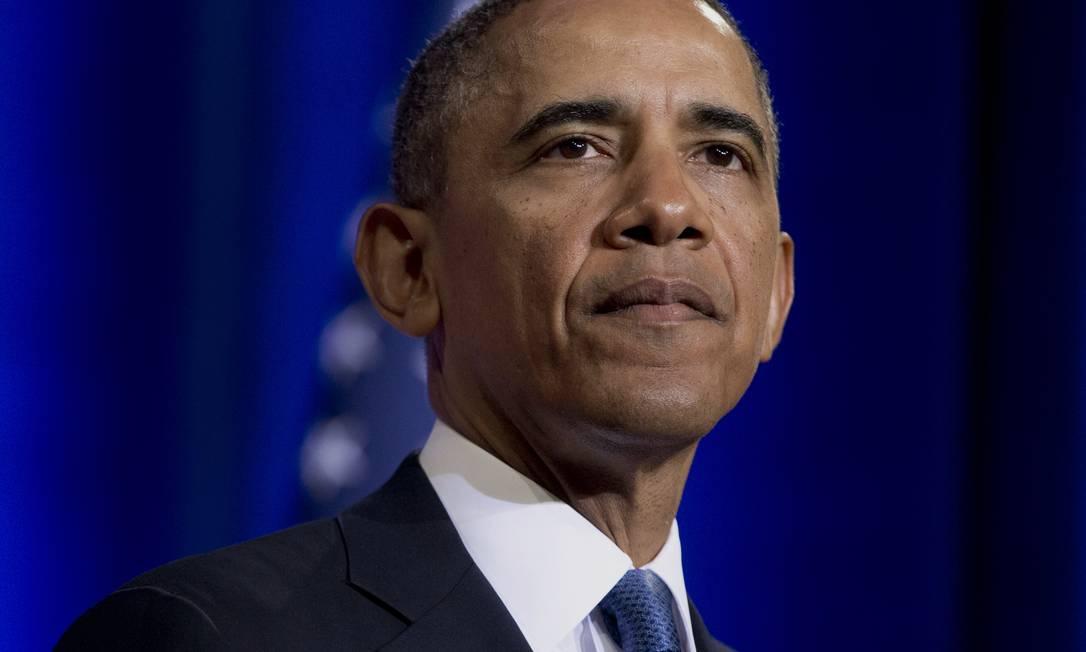 Presidente Barack Obama em pronunciamento sobre reformas nos programas de espionagem dos Estados Unidos Foto: Carolyn Kaster / AP