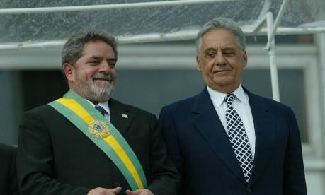 Lula em 2002, durante sua posse na Presidência da República Foto: Jorge William / Arquivo O Globo