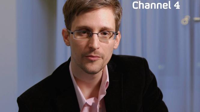 Edward Snowden durante entrevista a canal americano Foto: CHANNEL 4 / AFP