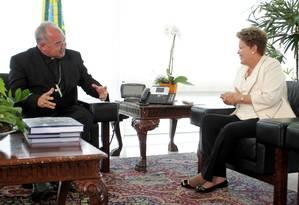 Dilma recebe dom Orani no Palácio do Planalto Foto: Ailton de Freitas / Agência O Globo