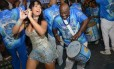 Raíssa no último ensaio da Beija-Flor: foram quatro horas seguidas de samba