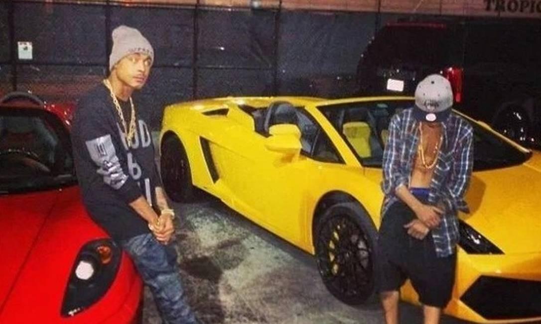 O Rapper Khalil E Justin Bieber, Momentos Antes Da Prisão, Com Os Carros  Usados